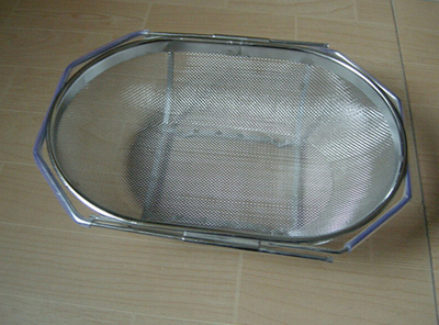 Stainless Steel Over-The-Sink Mesh Colander