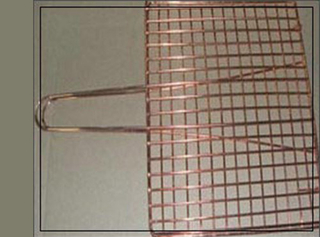 Copper Barbecue Grill Netting with Handle